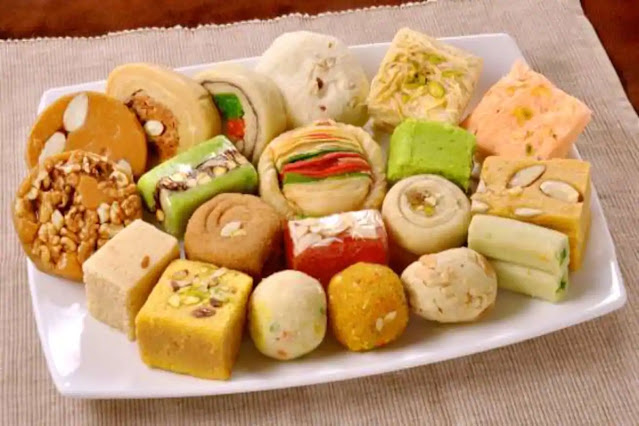 different delicacies during tihar in Nepal